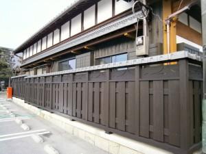高塀完成!瓦でこんなにも雰囲気変わります。